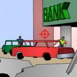 Игра Американский полицейский в перестрелке с бандитами