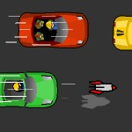 Игра Езда на машине на большой скорости со стрельбой ракетами