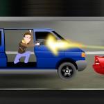 Игра Стрельба из машины по машинам