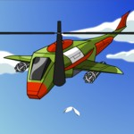 Игра Полицейский вертолет против бандитов над небоскребами