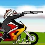 Игра Индеец на мотоцикле в крутой стрелялке