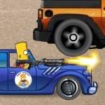 Игра Симпсон Барт на машине
