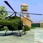 Игра Защита военной базы - стрелялка с вертолетом