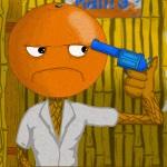 Игра Дуэль на пистолетах между двух оранжевых человечков
