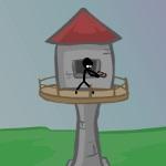 Игра Стикмен на защите артиллерийской башни