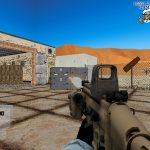 Игра Боец на базе в пустыне
